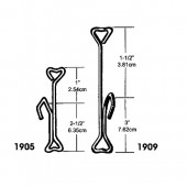 1905 Sew-on  Hooks  2 1/2'' Comes in Pk of 100