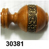 30381  Wood Pole Sets with Decorative Band  7/8 in. Diam.  Lenght: 6' and 8'  Qty of 4
