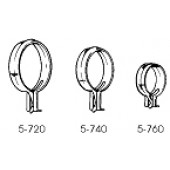 5-720-14 1'' Clip-on Rings Round Brass with Hole