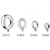 5-820-8/7  Cafe Ring with Eyelets 3/4''  to 1 1/4''