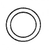P376-30  Clear Plastic Rings 3/8'' 25